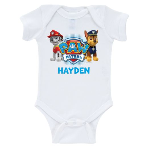 PAW Patrol Marshall and Chase White Infant Bodysuit