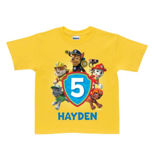 PAW Patrol Pawesome Birthday Yellow T-Shirt