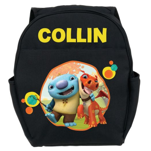 Wallykazam Silly Circles Black Toddler Backpack