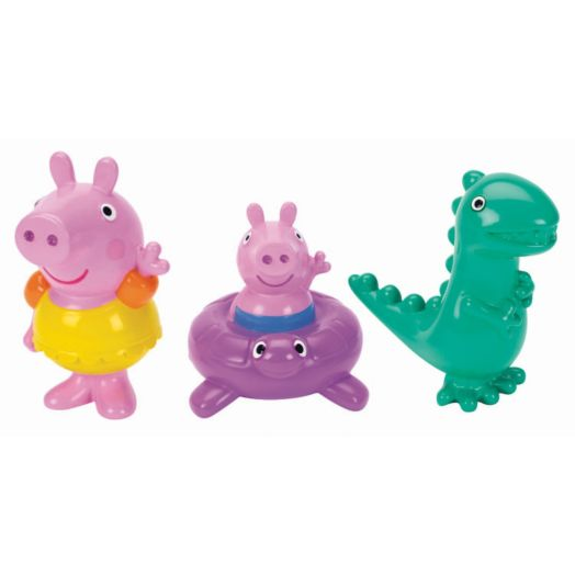 Peppa Pig Bath Squirters - Peppa Pig, George and Dinosaur Set