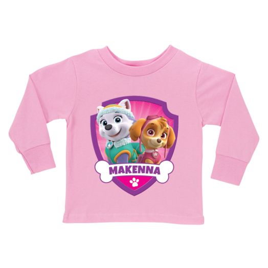 PAW Patrol Pretty Pups Pink Long Sleeve Tee
