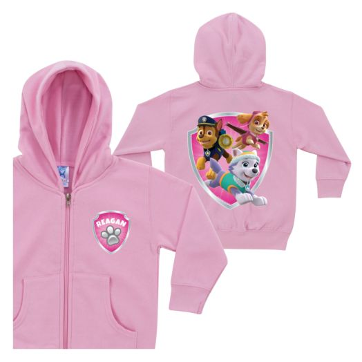PAW Patrol Rescue Pups Pink Zip-Up Hoodie