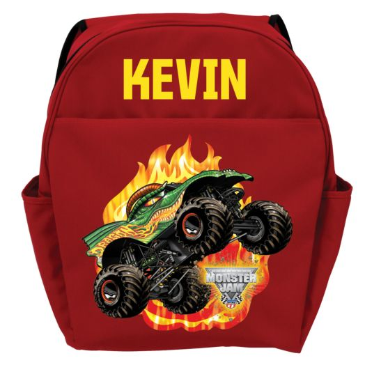 Monster Jam Dragon Red Youth Backpack