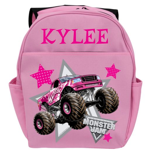 Monster Jam Madusa Pink Youth Backpack