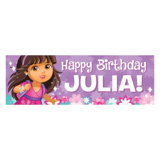 Dora and Friends Happy Birthday Banner