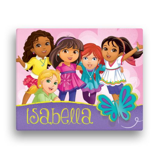 Dora and Friends Butterfly Fun 11x14 Canvas Wall Art