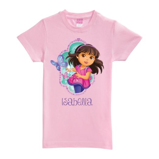 Dora and Friends Let's Go Pink Girls Fitted Tee