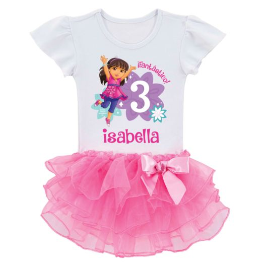 Dora and Friends Birthday Fun Girl Tutu Tee
