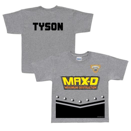 Monster Jam Max-D Uniform Gray T-shirt