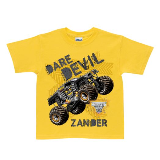 Monster Jam Max-D Dare Devil Yellow T-shirt