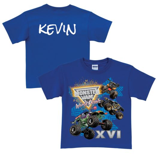Monster Jam World Finals Blue T-shirt