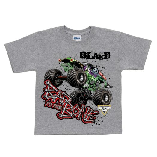 Monster Jam Bad To The Bone Gray T-shirt