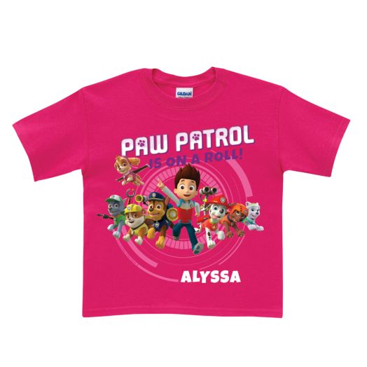 PAW Patrol On a Roll Hot Pink T-Shirt