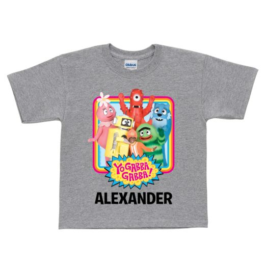 Yo Gabba Gabba Retro Gray T-shirt