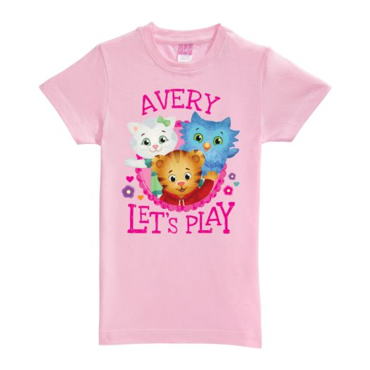 Daniel Tiger's Neighborhood Let's Play Pink Fitted Tee
