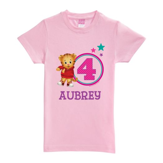 Daniel Tiger's Neighborhood Age Pink Fitted Tee