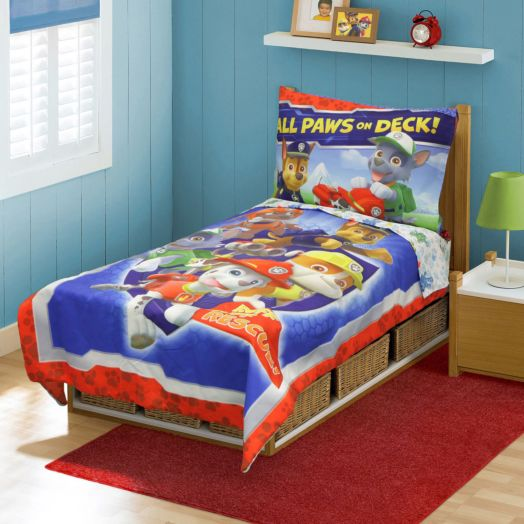 PAW Patrol All Paws on Deck 4 Piece Toddler Bedding Set