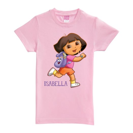 Dora the Explorer Running Pink Fitted Tee