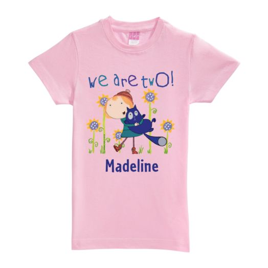 Peg + Cat We Are Two Pink Fitted Tee
