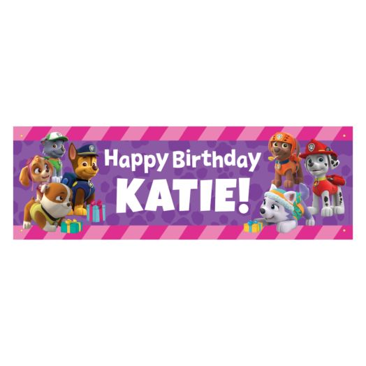 Paw Patrol Party Pups Birthday Banner