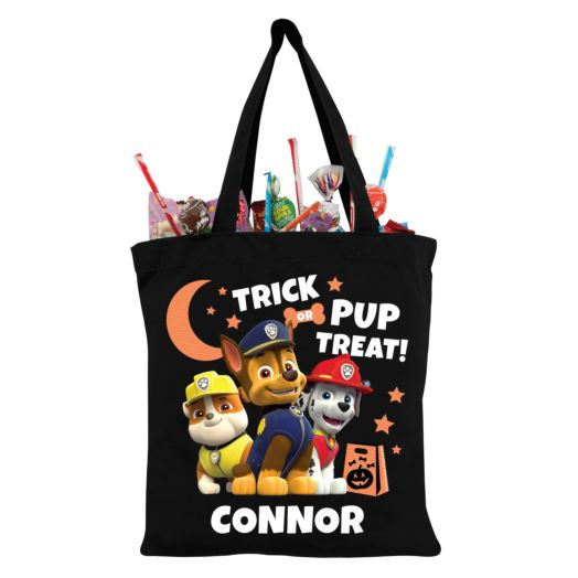 PAW Patrol Chase and Pups Black Trick-or-Treat Bag
