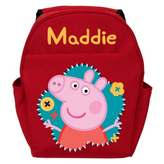Peppa Pig Flower Fun Red Toddler Backpack
