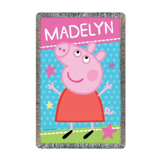 Peppa Pig Super Star Printed Throw