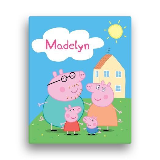 Peppa Pig Family 11x14 Canvas Wall Art