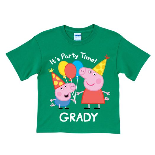 Peppa Pig Peppa and George Birthday Green T-Shirt