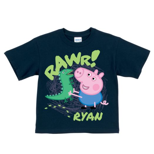 Peppa Pig George Rawr Navy T-Shirt