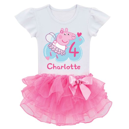 Personalized Peppa Pig Birthday Fairy Tutu Tee