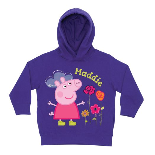Peppa Pig Pretty Purple Toddler Hoodie