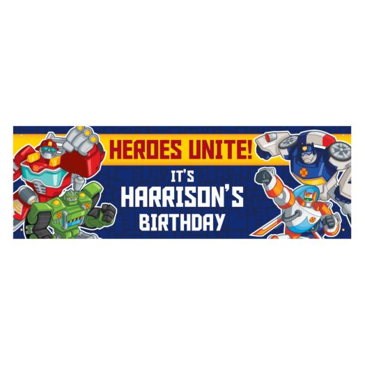 Transformers Rescue Bots Birthday Banner
