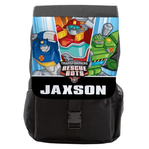 Transformers Rescue Bots Black Backpack