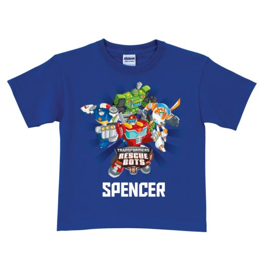 Transformers Rescue Bots Royal Blue T-Shirt