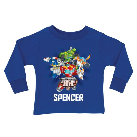 Transformers Rescue Bots Royal Blue Long Sleeve Tee