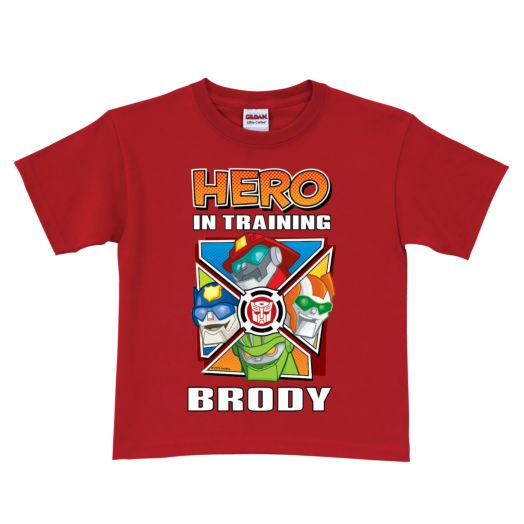 Transformers Rescue Bots Hero in Training Red T-Shirt