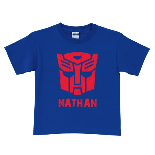Transformers Rescue Bots Optimus Prime Royal Blue T-Shirt