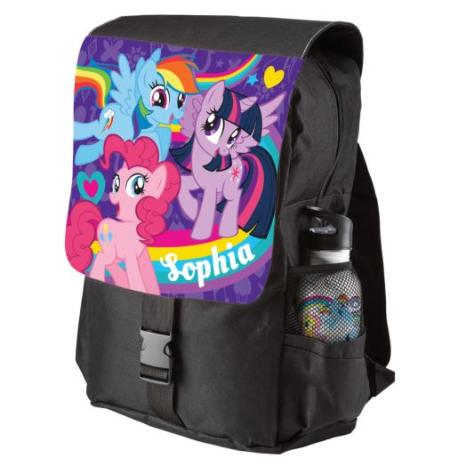 My Little Pony Pony Pals Black Youth Backpack