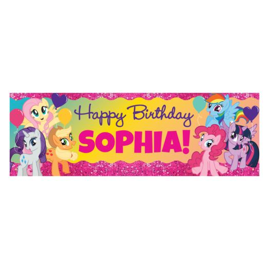 My Little Pony Sparkleriffic Birthday Banner