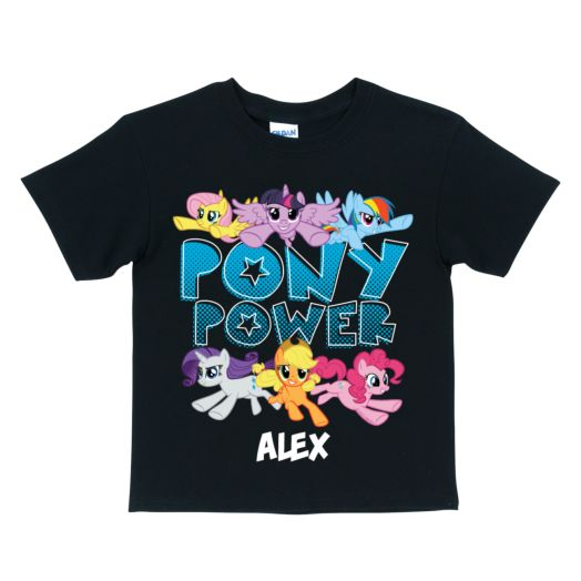 My Little Pony Pony Power Black T-Shirt