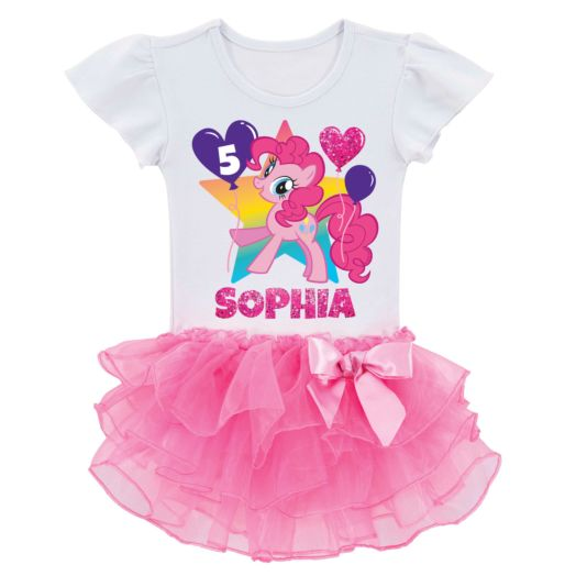 My Little Pony Pinkie Pie Birthday Tutu Tee