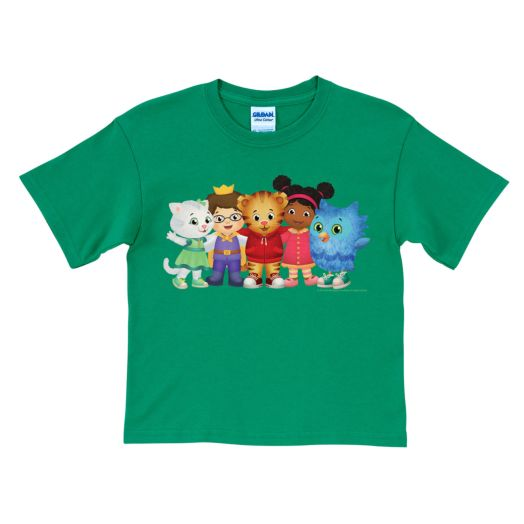 Daniel Tiger's Neighborhood Group Green T-Shirt