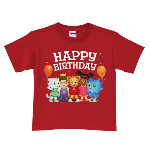 Daniel Tiger's Neighborhood Red Birthday T-shirt