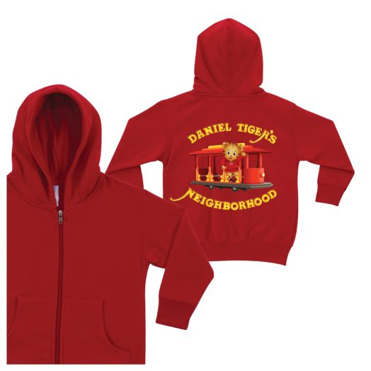 Daniel Tiger's Neighborhood Red Zip-Up Hoodie