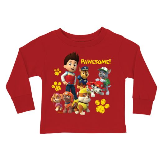 PAW Patrol Pawesome Red Long Sleeve Tee