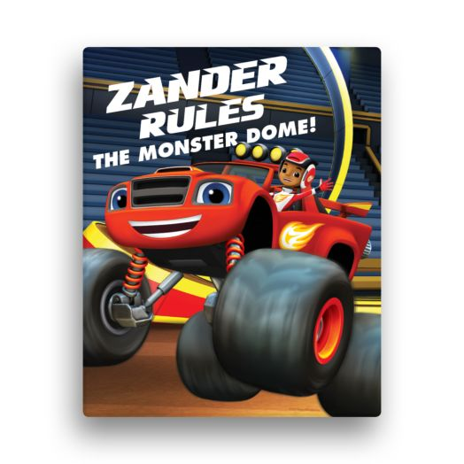 Blaze and the Monster Machines Rule the Dome 11x14 Canvas Wall Art