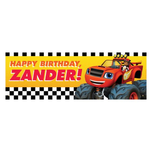 Blaze and the Monster Machines Blazing Birthday Banner
