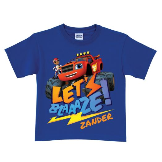 Blaze and the Monster Machines Blaze Royal Blue T-Shirt