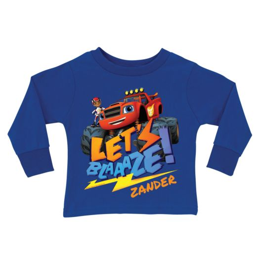 Blaze and the Monster Machines Royal Blue Long Sleeve Tee